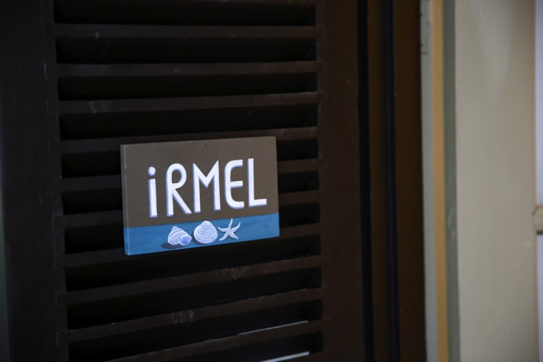 Irmel room sign at the entrance door