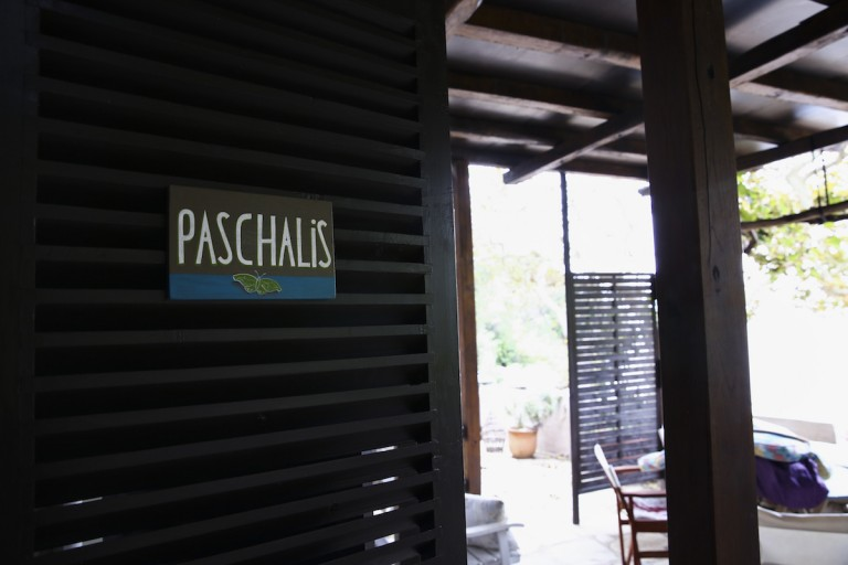 Paschalis apartment sign at one of its entrances